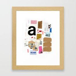 Paper Trail I  Framed Art Print