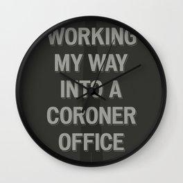The Coroner Office Wall Clock