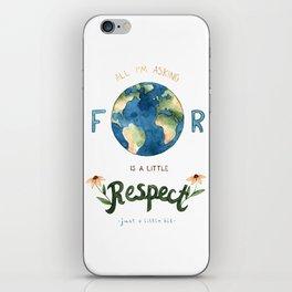 Respect Earth Art iPhone Skin