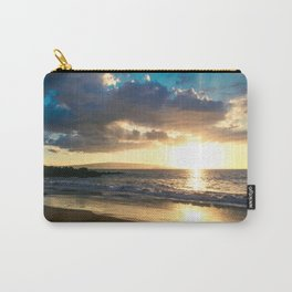 Poolenalena Beach Sunset Makena Maui Hawaii Carry-All Pouch