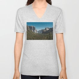 Tunnel View, Yosemite National Park V Unisex V-Neck