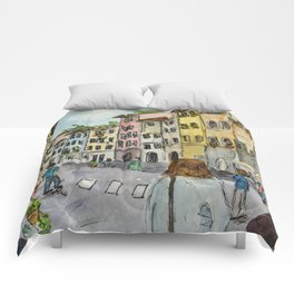 A Stroll Through Florence Comforters