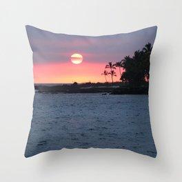 Kona Sunset Throw Pillow