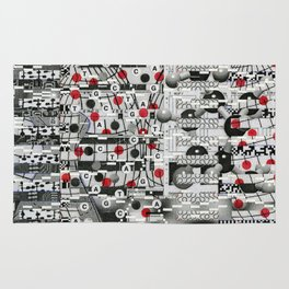 The Unreasonable Man (P/D3 Glitch Collage Studies) Rug