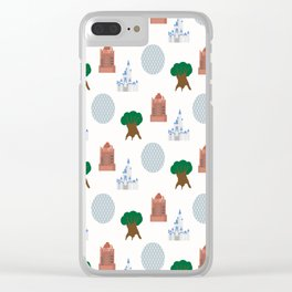 Iconic Theme Parks Clear iPhone Case