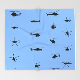 Helicopter Pattern Throw Blanket