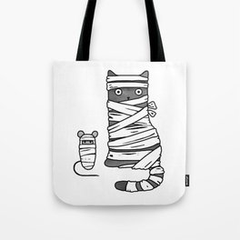 Mummy Cat & Mummy Mouse – Silent Horror Tote Bag