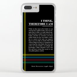 Philosophia II: I think, therefore I am Clear iPhone Case