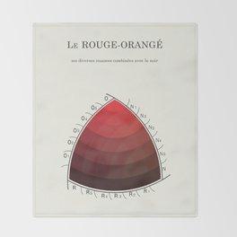 Le Rouge-Orangé (ses diverses nuances combinées avec le noir) Remake (Interpretation) Throw Blanket