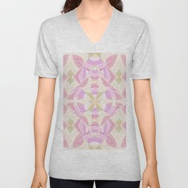 Abstract Moon Lotus YY Unisex V-Neck