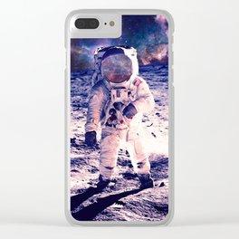 Spacewalk Nebula Clear iPhone Case