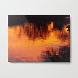 BURNING SUNRISE Metal Print
