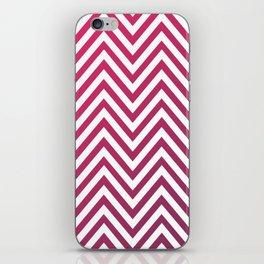 Geometric Lines Pattern Magenda iPhone Skin