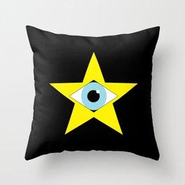 Digital Star Throw Pillow