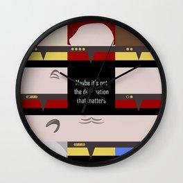 Maybe it's not the Destination that matters - square - Star Trek: Voyager VOY  trektangle minimalist Wall Clock