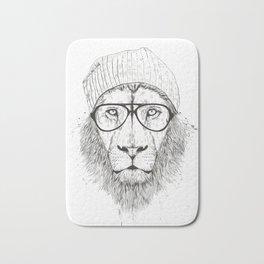 Cool lion (bw) Bath Mat