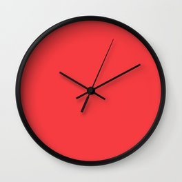 SOLID CORAL COLOR Wall Clock