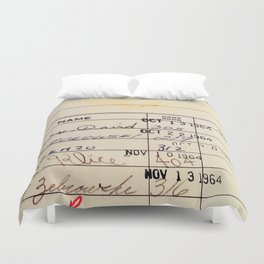 Library Card 23322 Duvet Cover