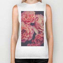 Roses in the night garden Biker Tank