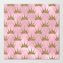 Royal Mermaid Crown Canvas Print