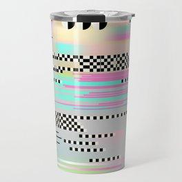 Glitch art effect Travel Mug