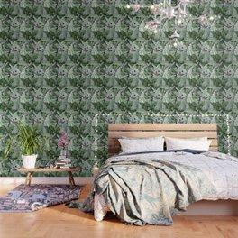 Art Nouveau William Morris Green Acanthus Leaves Wallpaper