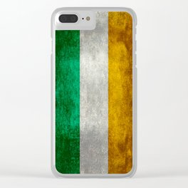 Flag of the Republic of Ireland, Vintage style Clear iPhone Case