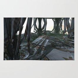 Rattan Theater (3D Fractal Digital Art) Rug