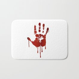 Bloody halloween hand Bath Mat