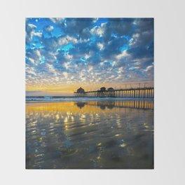 Huntington Beach Sunset   12/17/13   Throw Blanket