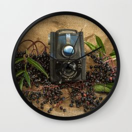 Ensign and the Elderberries Wall Clock