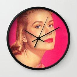 GRACE KELLY - BRIGHT PINK - MODERN SCREEN MAGAZINE Wall Clock