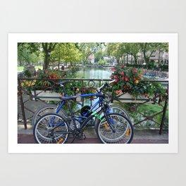 Lac D'anney bicycles  Art Print