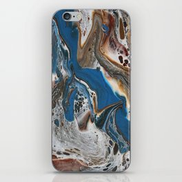 Blue swirl iPhone Skin