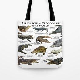 Alligators and Crocodiles of the World Tote Bag