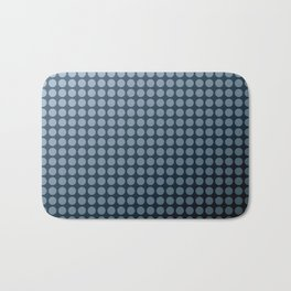 Black and blue polka dot pattern . Bath Mat