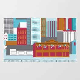 Houston, Texas - Skyline Illustration by Loose Petals Rug