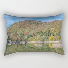 Autumn lake view in France Rectangular Pillow