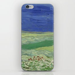 Wheatfield under Thunderclouds iPhone Skin