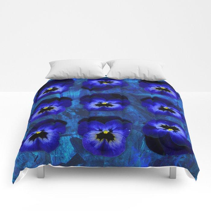 Deep Blue Velvet Comforters