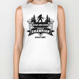Hide & Seek // World Champion // Bigfoot // Sasquatch // Yeti Biker Tank
