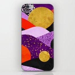 Terrazzo galaxy purple orange gold iPhone Skin