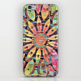 Cubistic Rainbow Flower Kaleidoscope iPhone Skin