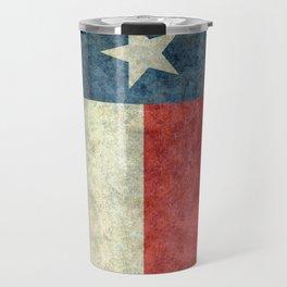 Texas state flag, vintage banner Travel Mug