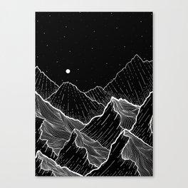 Sea mountains Canvas Print