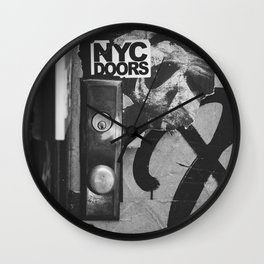 NYC Doors Wall Clock