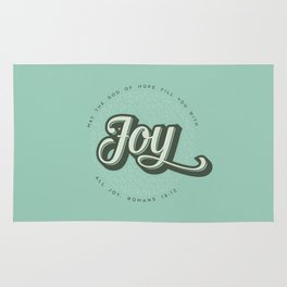 May the God of Hope Fill You With All Joy Rug