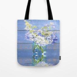 Rustic Hydrangea In Mason Jar Tote Bag