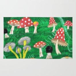 Mushroom Party Rug