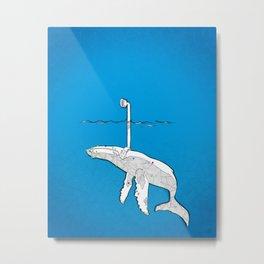 whale watching deep blue Metal Print